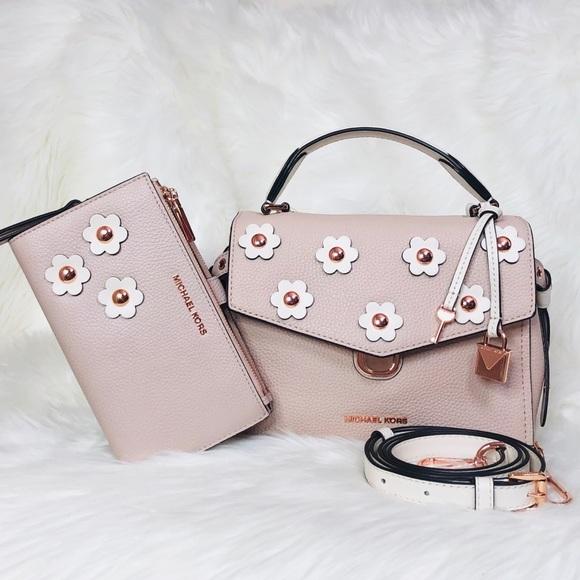 1d9c46da990d Michael Kors Bags | Bristol Sm Floral Satchel Wallet Set | Poshmark